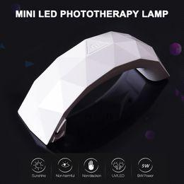 Uv Light Sources Australia - Portable Rainbow Shape Mini USB 9W Nail Dryer LED UV Lamp Phototherapy Machine Curing Gel Dual Light Source Manicure Tools