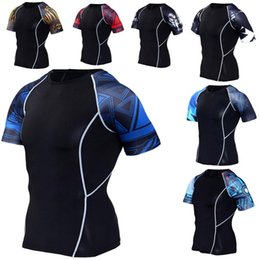 $enCountryForm.capitalKeyWord Australia - Boys Mens Compression Shirts Base Layer Short Sleeves Sides 3D Prints Thermal Under Top Tights Skin Man's T-Shirt Free shipping