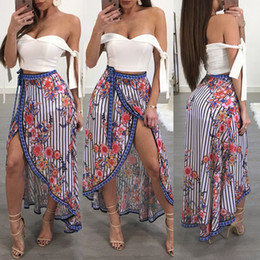Kimono European Style NZ - Printed Beach Women's European and American Style Sexy Leggings Long Skirt Top Bandeau Strap Tops