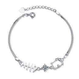 0f38de319 Hello kitty cHarm bracelet online shopping - 925 silver bracelet Original  authentic lovely KT cat hello