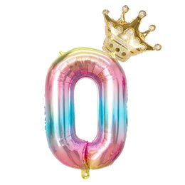 number balloons for Canada - Party Toys Number Balloons for Birthday Party Decoration From One To Nine Figure Balloons with Crown