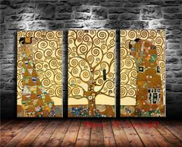 $enCountryForm.capitalKeyWord NZ - Gustav Klimt Tree , 3P Canvas Pieces Home Decor HD Printed Modern Art Painting on Canvas (Unframed Framed)