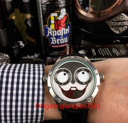 $enCountryForm.capitalKeyWord Australia - The Latest Popular Russian Clown Expression Constantly Changing Humor Unique Design Quartz Movement Leather Watchband 42mm
