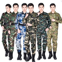Tv Clothes NZ - Military Tactical Uniform Combat Army Clothes Men Camouflage Special Forces Soldier Training Militar Wear Clothing Pant Set