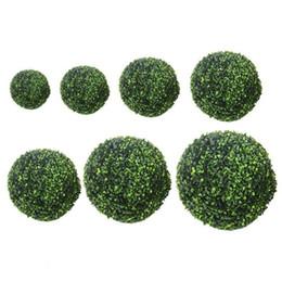Artificial Green Hanging Balls NZ - 10 15 20cm Artificial Grass Topiary Balls Landscape Simulation Green Hanging Balls Fake Bonsai Plants Wedding Decor A30 C19041302