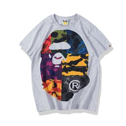 HigH quality wHite tees online shopping - Bape Designer T Shirt Bape Mens Designer T Shirt Men Women High Quality Hip Hop Tee S XXL