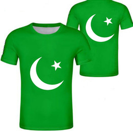 Wholesale PAKISTAN t shirt diy free custom name number pak t shirt nation flag islam arabic islamic pk pakistani arab print photo clothing