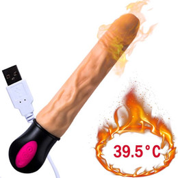 male toy heating Canada - 12 Modes Heating Realistic Dildo Vibrator Flexible Soft Silicone Penis G Spot Vagina Vibrator Masturbator Sex Toy For Women U235 T191224