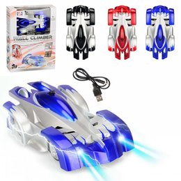 fe968d8fd5c6 Electricity Cars Remote Control Wall Climbing Car LED Lights 360 Degree  Rotating Stunt Toys Antigravity Machine Wall Racer For children gift. NZ 17.43  ...