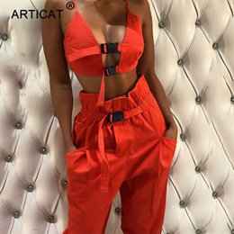 $enCountryForm.capitalKeyWord Australia - Articat 2018 Autumn Bodycon Rompers Womens Jumpsuit Two Piece Set Sexy Hollow Out Crop Top Casual Club Party Jumpsuits Overalls MX190806