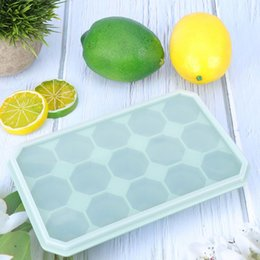 ceramic molds Canada - 15 Grids Silicone Ice Tray Molds Candy Mold Cake Mold With Lid DIY Freeze Mold for Fruit ChocalateKtchen Gadgets