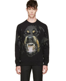 Velour hoodie online shopping - Spring Mens Hoodies New Popular Brand Big Dog Print Pullover With Fleece Hoodies For Loose Lovers