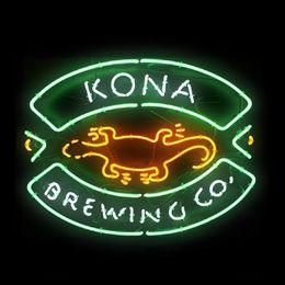 "$enCountryForm.capitalKeyWord Australia - Hot Kona Brewing Neon Sign Handmade Real Glass Tube Beer Bar KTV Store Restaurant Decoration Display Neon Signs With Clear Backing 19""X15"""