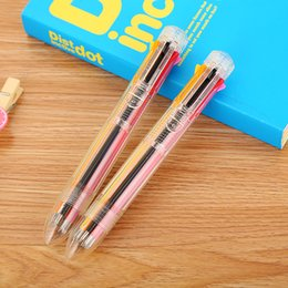 Stationery Australia - 40 PCs Creative Candy 8 Color Transparent Ballpoint Pen Cute Learning Stationery Press Graffiti Pen