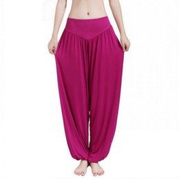 b497203f64f92 New Women Casual Harem Pants High Waist Dance Pants Woman Fashion Wide Leg Loose  Trousers Bloomers Pants Womens Plus Size