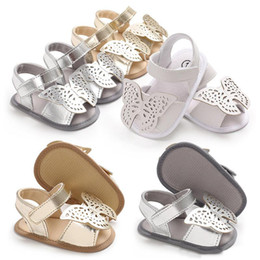 BaBy infant girl summer sandals online shopping - Cute Infant Baby Butterfly Sandals Girls Summer Sandals Newborn Baby Princess Soft Sole Prewalkers First Walker Shoes