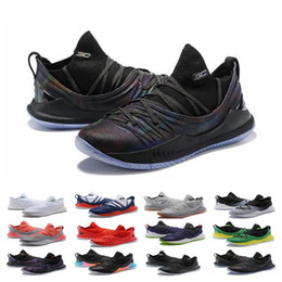 curry blue shoes Australia - Cheap Sale Stephen Basketball Shoes Curry 5 Mens Womens Currys 5s Championship MVP Finals Sports training Trainers Shoe Sneakers