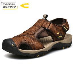 $enCountryForm.capitalKeyWord Australia - Camel Active 2019 New Summer Men Sandals Trend New Simple Wild Genuine Leather Cow Leather Flexible Resistant Folding Man Shoes