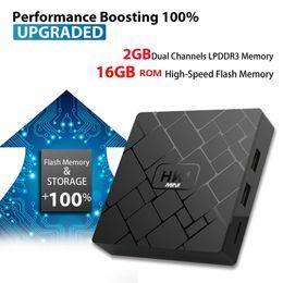 Dvb s set top box online shopping - HK1 mini SMART TV BOX Android GB GB Amlogic S905W Quad core cortex A53 Set Top Box K IPTV HDMI Media Player andriod tv box