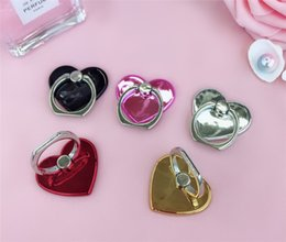 Discount shaped mobile phone holders - New Love Heart Shaped Finger Ring Holder Mobile Phone Ring Holder Bracket Moblie phone Ring holder stand easy to hold ph