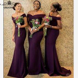 $enCountryForm.capitalKeyWord Australia - Wed dress Sexy Off Shoulder Bridesmaid Dresses 2019 Wholesale Price Purple Satin Long Mermaid Maid even dresses For Women prom dress