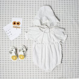 $enCountryForm.capitalKeyWord Australia - Cute Newborn Baby Girl Romper Summer Spring Princess Fur Ball Sunsuit with Hat Suit One Pieces Tassel Clothes Free Drop Shipping