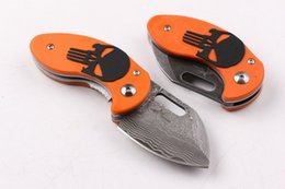 Best Gift For Xmas Australia - VG10 Damascus Blade Mini Size Skeleton Folding Pocket EDC Knife Outdoor Tactical Camping Survival Best Xmas Gift Knives For Men P236F R
