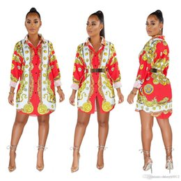long sleeve african print dresses Australia - 2019 HISIMPLE Loose African Women New Vintage Print Turn Down Neck Long Sleeve Mini Dress Shirt Casual Dresses Vestidos Casual Outfit S-3XL