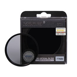 camera lens 77mm filter UK - Lenses & Accessories Camera Filters Zomei Neutral Density camera filter set kit 52 58 62 67 77mm 82mm 2 ND4 ND8