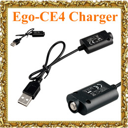 vision ecig charger NZ - Ego USB Charger Cable Ego CE4 Electronic Cigarette USB Charger for ego-t vision spinner ecig Battery 18650 Battery Vapor Ecigs Charger