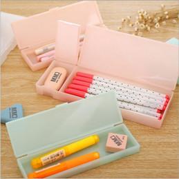 $enCountryForm.capitalKeyWord Australia - pencil case cute korean stuff Transparent PP Plastic Pen Box For Kids Lovely Gift Office School Supplies Materials