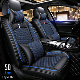$enCountryForm.capitalKeyWord Australia - PU Leather+Ice silk Car seat covers For Toyota Corolla Rav4 Auris Prius Yalis Avensis SUV Universal auto accessories car sticks