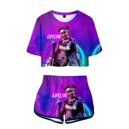 China Apex Legends Tracksuits Women 3D printed game tank top Summer Shirt shorts pant outfits lovers couple Beach suit clothing GGA1711 supplier lovers clothing couple suppliers