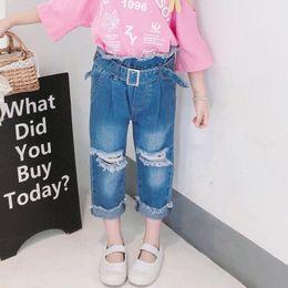 $enCountryForm.capitalKeyWord Australia - Girls Jeans loose kids pants hole Kids Jeans kids designer clothes girls trousers Harem Pants little girls clothing A5685