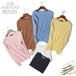 $enCountryForm.capitalKeyWord Australia - Cheap Clearance Womens Solid Color Sweater Autumn New Simple Knit Pullover High Quality Popular Casual Womens Clothing