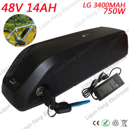 $enCountryForm.capitalKeyWord Australia - 48V 13AH Electric bike down tube battery 48V 750W E-bike Lithium ion Battery BMS use for LG cells battery pack with 2A Charger.