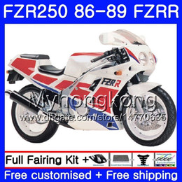 $enCountryForm.capitalKeyWord Australia - Body For YAMAHA FZRR FZR 250R FZR250 FZR250R 86 87 88 89 249HM.1 FZR250RR hot sale white FZR-250 FZR 250 1986 1987 1988 1989 Fairings kit