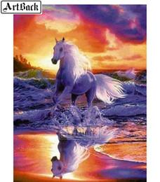 $enCountryForm.capitalKeyWord NZ - 5d diy diamond painting running horse full square animal 3d diamond embroidery rhinestone resin diamond mosaic picture gift