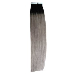 China ombre Tape In Human Hair Extensions 100g Skin Weft Colorful Tape on Hair Skin Weft hair Extension 40pcs Per Package cheap wholesale human hair packaging suppliers