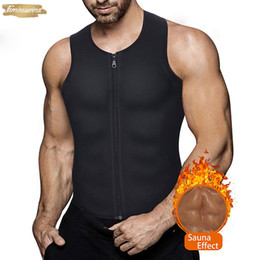 body weight suit Australia - Shaper Plaid Waist Trainer Vest For Weight Neoprene Fitness Corset Body Men Zip Tank Top Workout Shirt Sauna Suit Women
