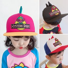 baby dinosaur crochet NZ - hat baby Baseball baby children's baseball sun hat boys and girls cap Tide brand dinosaur stereoscopic modeling cap