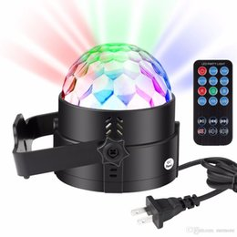 Crystal Light Usa Australia - Mini RGB LED Crystal Magic Ball disco Stage Effect Light Bulb Party Disco Club DJ Lamp Show Lumiere