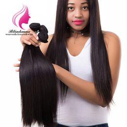 Full Cuticle Virgin Human Hair Australia - Blinkmax Hair 3bundles No Tangle No Shedding Full Cuticle Aligned Virgin Straight Human Hair