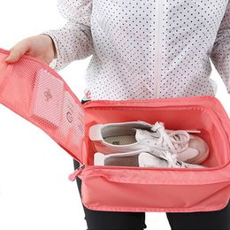 Portable Folding Shoes Australia - 2018 new! Convenient Travel Storage Organizers Nylon Portable Organizer Bags Shoe Sorting