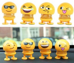 Wholesale Emoji Shaking Head Kids Toys Expression Head Shaking Doll Spring Man Ornament Car Desk Decoration Shaking Head Doll Top Quality