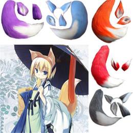 $enCountryForm.capitalKeyWord Australia - ostumes Accessories Costume Props 65cm New Anime Spice and Wolf Holo Fox Kamisama Kiss Hajimemashita Halloween Cosplay Toy Tail Ears Cosp...