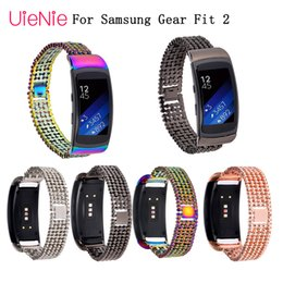 Samsung Gear Smart Watch Australia - High Quality watch band Stainless Steel Bracelet Band For Samsung Gear Fit2 SM-R360 Smart Watch Strap For Gear Fit 2 Watchbands