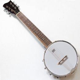"""Wholesale 26"""" 6string ukulele banjo with sapele plywood"""