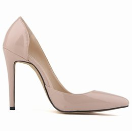 Shoes For Plus Sized Women Australia - Women Pumps, High Heels Shoes 12cm Black Stiletto Pointed Toe Woman Shoes Sexy Party Shoes Nude Heels for Women Plus Size 5-10