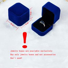 $enCountryForm.capitalKeyWord Canada - Ring box 5 Colors Hot Sale Wholesale Velvet Engagement Wedding Earring Ring Box Pendant Jewelry Display Storage Foldable Case